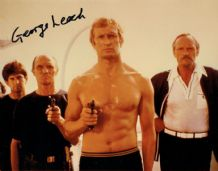 George Leech Autograph Signed Photo - James Bond Stuntman